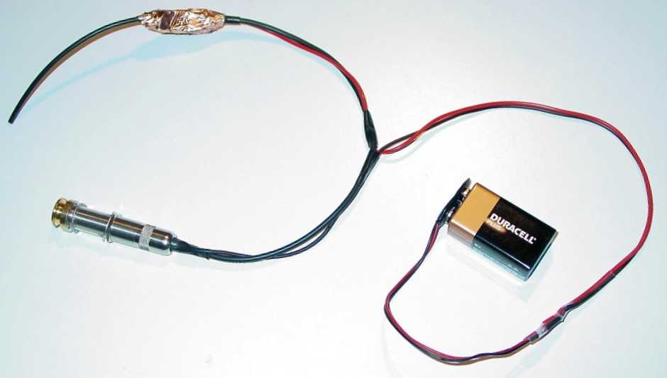 piezo pickup with preamp
